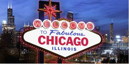 Illinois Chicago Welcome Sign